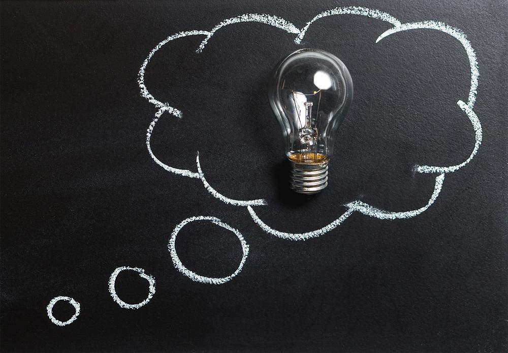 Light bulb thinking