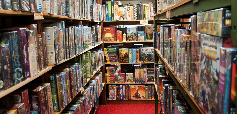 Inside of Games Unlimited with hundreds of board games