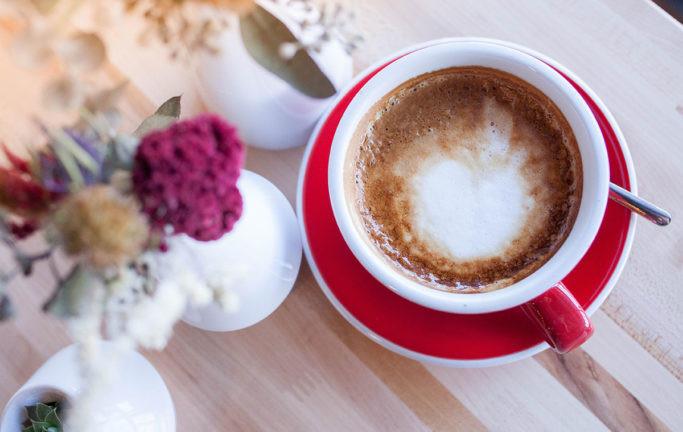 A cappuccino from De Fer Coffee