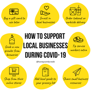 Support Small Businesses During Coronavirus (COVID-19)