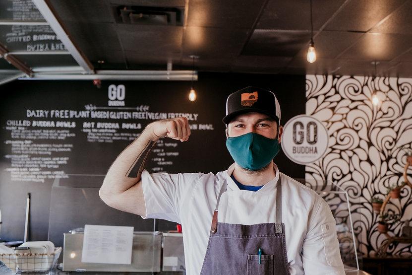Chef Josh Ingraham, owner of Go Buddha plant-based eatery in Ohio