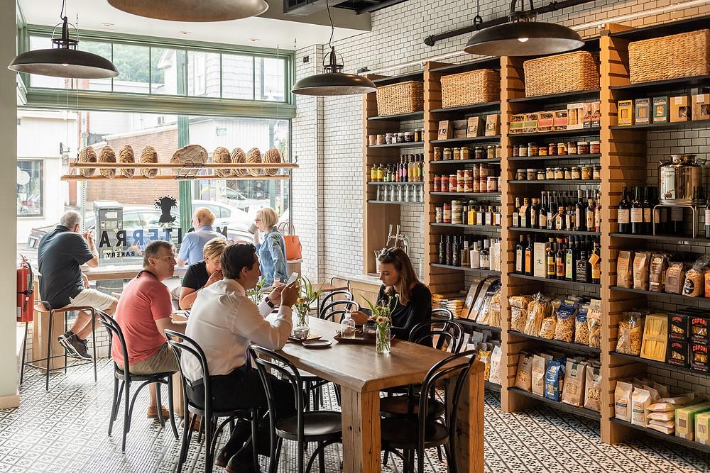 Mediterra Cafe interior