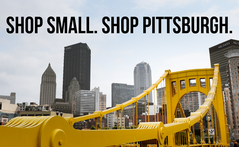 Shop Small, Shop Pittsburgh. Picture of a bridge