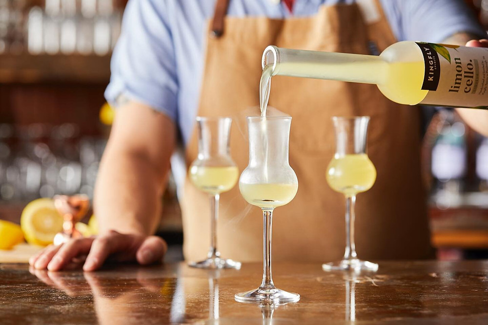 Limoncello from Kingfly Spirits in Pittsburgh's Strip District