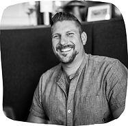 Chef Brad Bernstein of Red Feather Kitchen in Cincinnati, in black & white photography