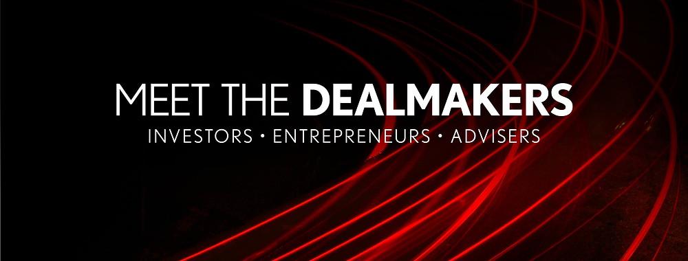 "Logo for Smart Business Dealmakers reading, ""Meet the Dealmakers"""