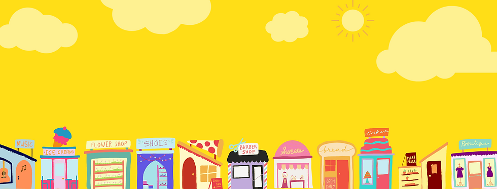 Small Business Saturday Virtual Market with a colorful Main Street of small businesses