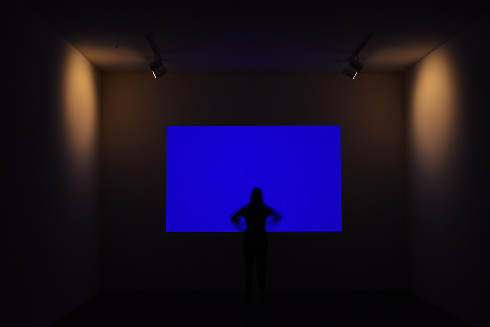 A screen art installation by James Turrell at the Mattress Factory in Pittsburgh