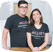 Small business owners Chad and Lauren Townsend, owners of Millie's Homemade Ice Cream in Pittsburgh, PA
