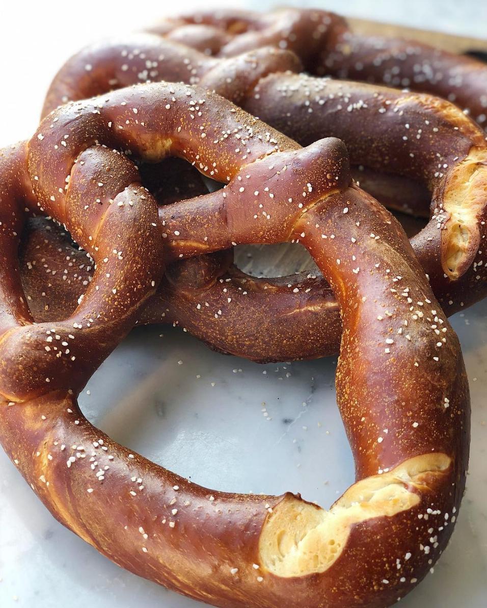 Mediterra Cafe soft pretzels