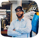 Small business owner Justin Strong of Strong's Cleaners, a dry-cleaning service in Pittsburgh, PA