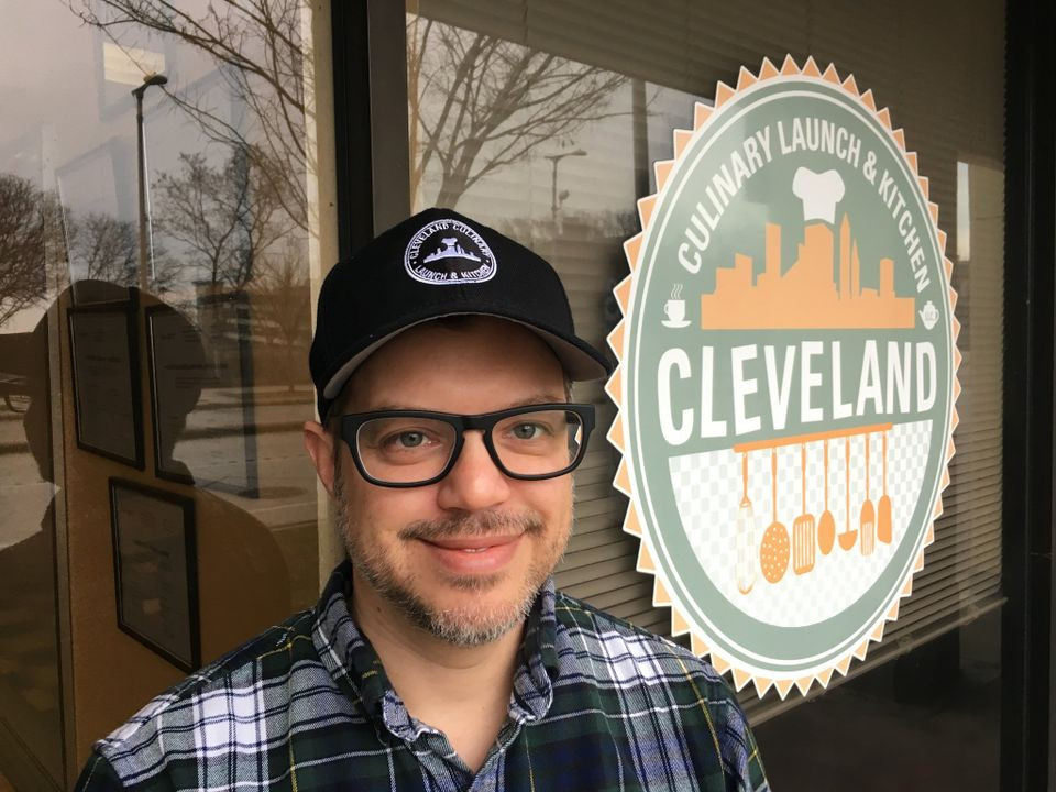 Eric Diamon in front of Central Kitchen Cleveland