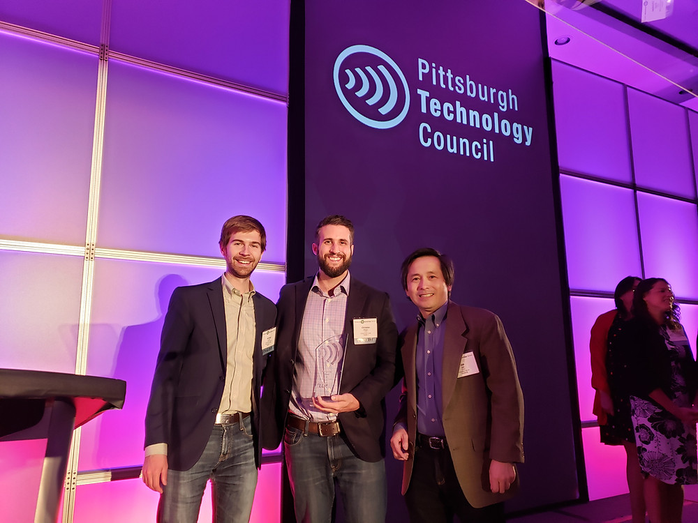 CEO George Cook and co-founder Ken Martin receive FinTech Innovator of the Year