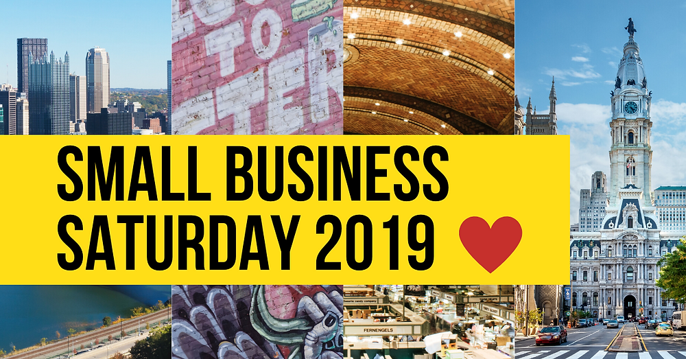 """Graphic reads """"Small Business Saturday 2019"""""""