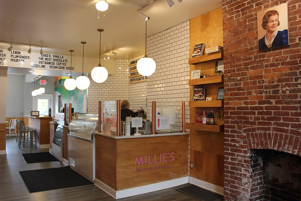 Interior of Milie's Homemade Ice Cream in Pittsburgh