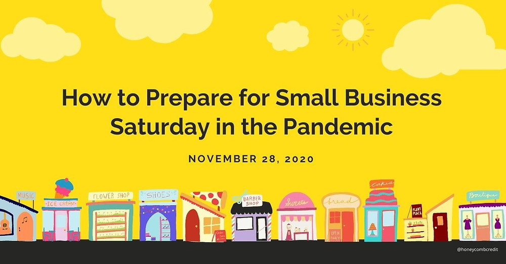 """Graphic reads """"How to Prepare for Small Business Saturday in the Pandemic"""""""