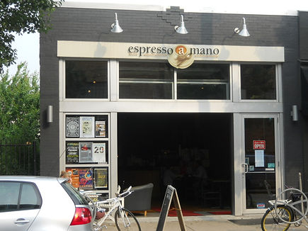 3623 Butler Street occupied by Espresso a Mano after streetface renovation