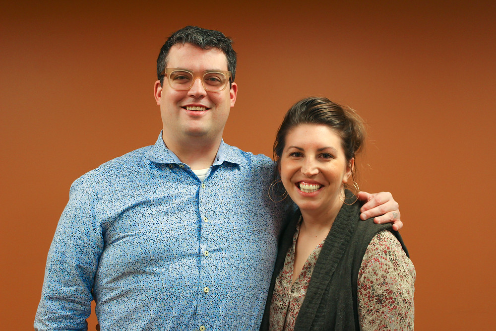 Chad and Lauren Townsend, founders of Millie's Homemade Ice Cream