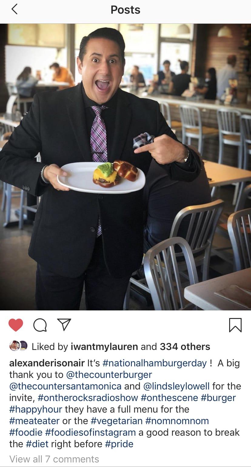 Counter burger Alexander