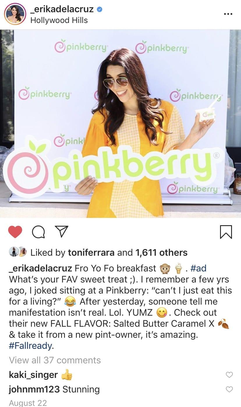 Pinkberry Erika de la cruz