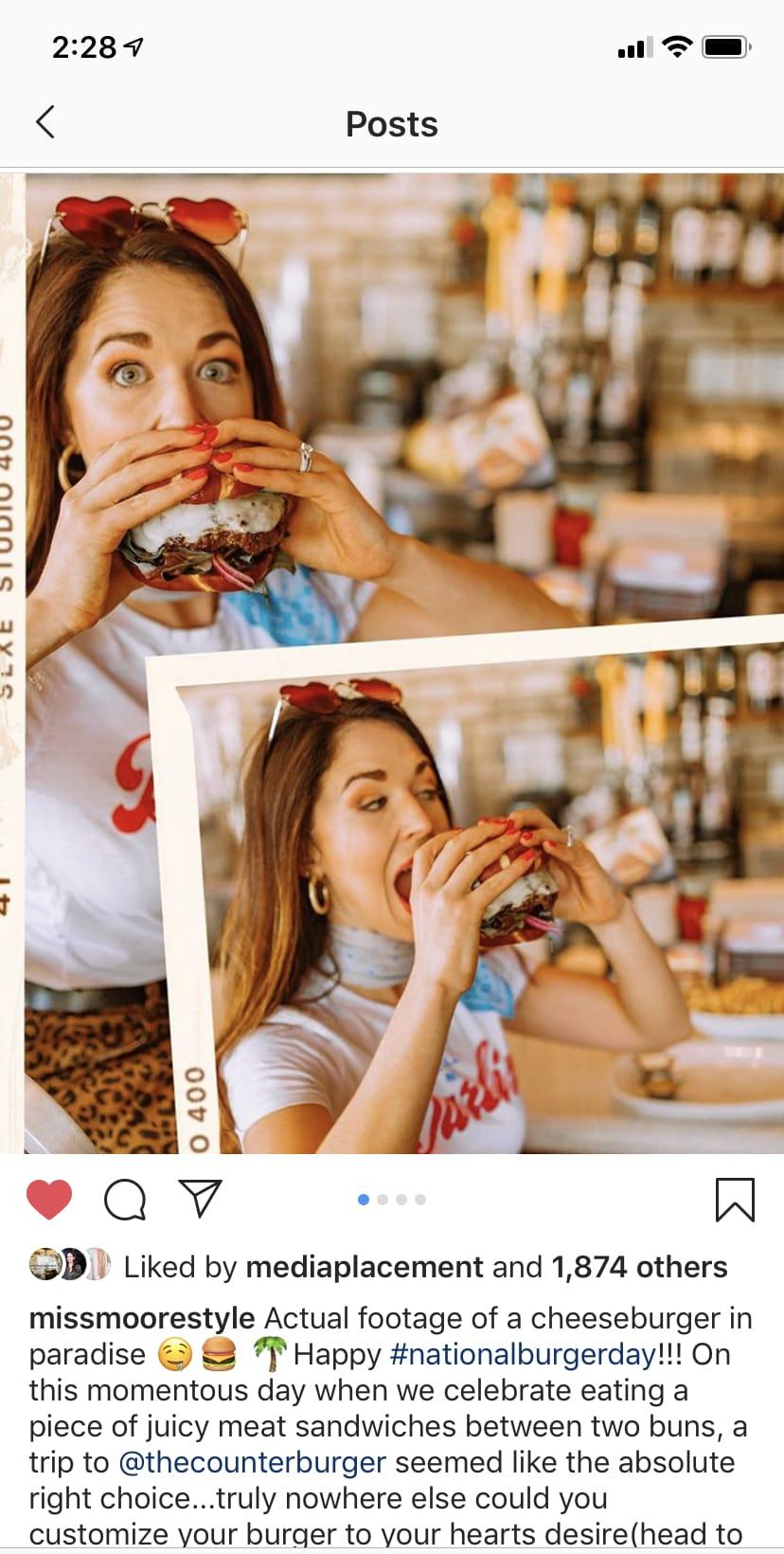 Counter Burger Missmoorestyle