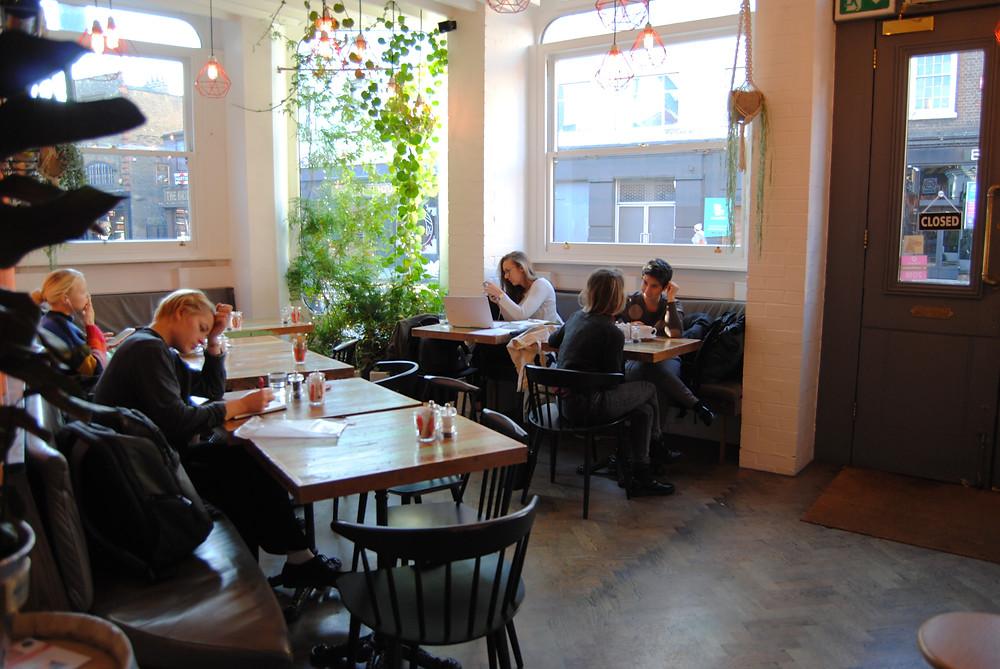Sunny café open daily