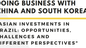 Fórum: Doing Business With China and South Korea