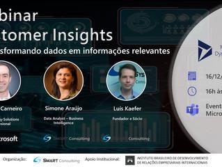 Webinar Customer Insigths - IA Transformando Dados em Informações Relevantes