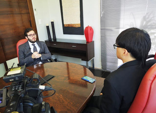 Entrevista para TV Estatal Chinesa