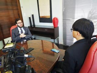 Entrevista para TV Estatal Chinesa