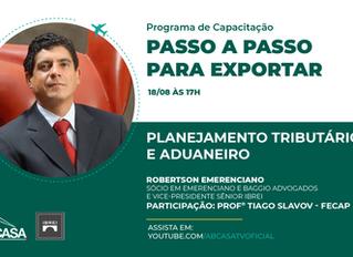 Trilha de Internacionalização e Programa de Capacitação para Exportação - Planejamento Tributário e