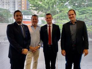 Reunião com o Adido Comercial da Embaixada de Luxemburgo