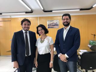 Representante de Coimbra e Diretora do IBREI Goiás se reúnem com o novo presidente da Junta Comercia