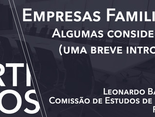 Empresas Familiares – Algumas Considerações