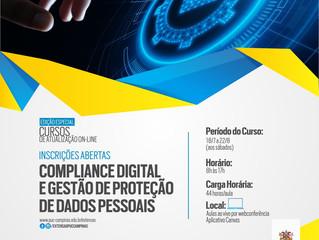 Compliance Digital e Gestão de Proteção de Dados Pessoais