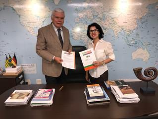 Diretora Regional do IBREI empossa Presidente do Conselho Consultivo da Bradutch Goiás