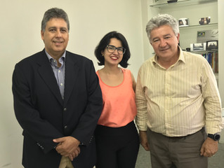 Presidente de associação industrial recebe diretoria do IBREI Goiás