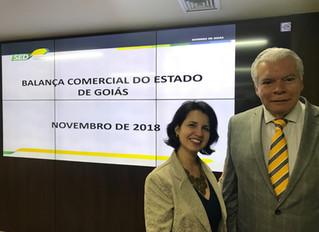 Diretora regional é convidada para a reunião de apresentação da balança comercial de Goiás