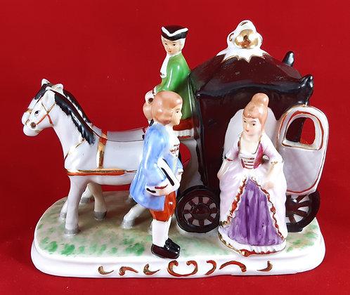 Pferdekutsche Rokoko - Porzellan