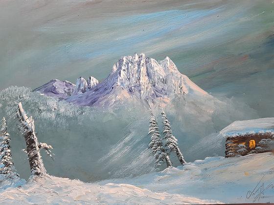 Oswald Ausweger / Gmünden - Gemälde Winterlandschaft