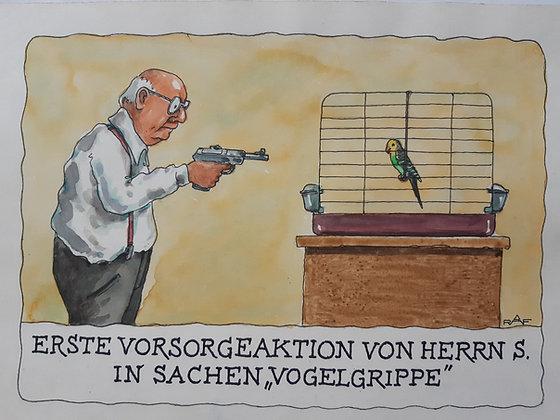 Ralf Alex Fichtner / RAF / Zeichnung - Vogelgrippe