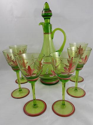 Likörset - Karaffe & 6 Gläser