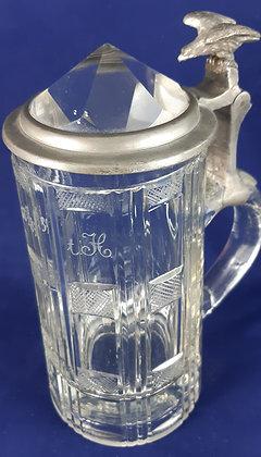Glaskrug Zoiglkrug 1889 & Prismadeckel