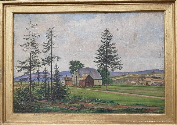Otto Weigel - Gehöft in Kühnheide im Erzgebirge / Gemälde