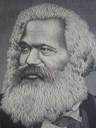 Karl Marx - Seidenbild