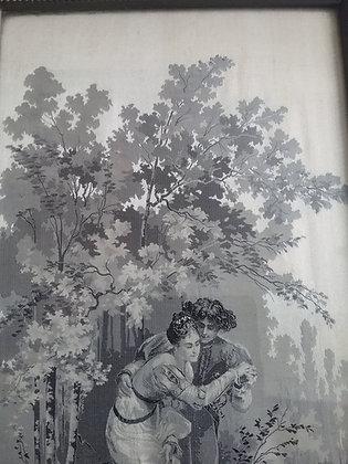 Liebespaar am Bach - Romantik - Seidenbild