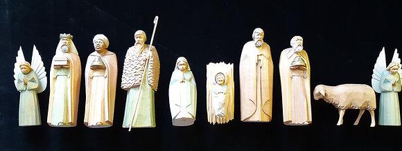 10 Krippenfiguren - Silvia Kalbe Schneeberg Erzgebirge