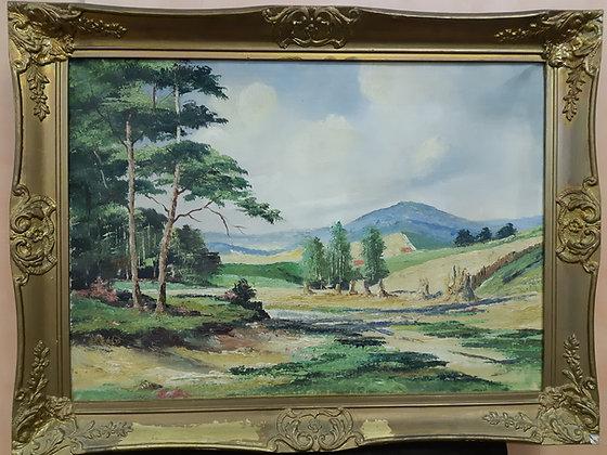 Stello - Blick zur Lausche / Gemälde / Zittauer Gebirge