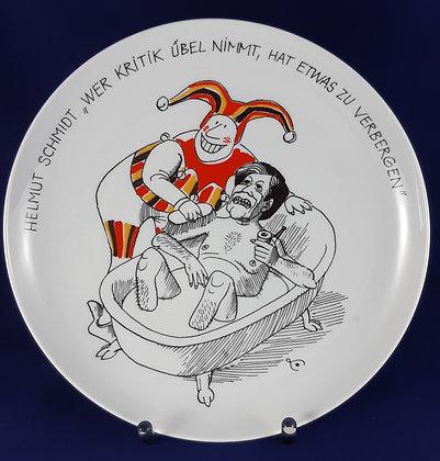 Rosenthal Satire Teller Helmut Schmidt