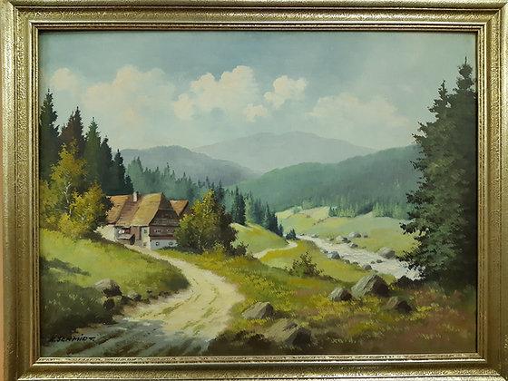 K. Schmidt. - Gemälde Erzgebirge
